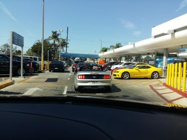 Saída da locadora de carros em Los Angeles