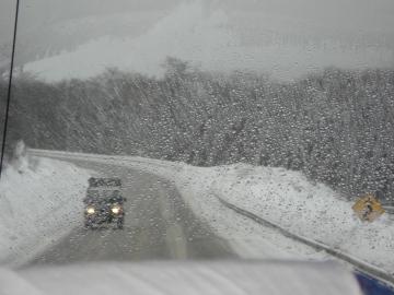 As estradas do Ushuaia em dia de neve