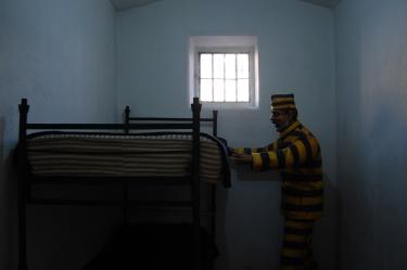 A cela do presídio do Ushuaia, com réplicas das camas originais, para termos uma boa noção do espaço que o presidiário dispunha