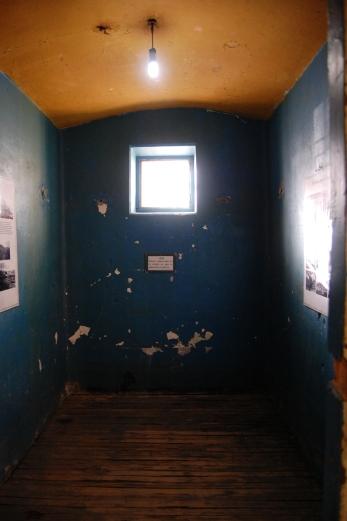 Uma das celas do presídio