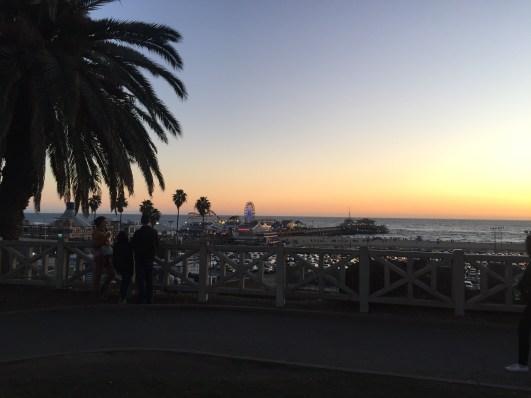 Final de tarde no píer de Santa Monica