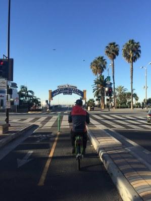Ciclovias no píer de Santa Monica