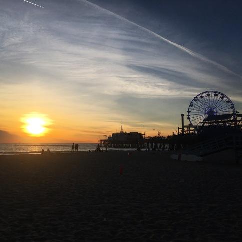 O píer de Santa Monica